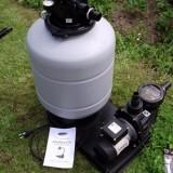 Монтаж фильтровальной установки для сборного бассейна AZURO