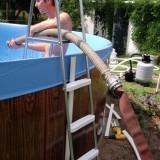 Наполнение водой каркасного бассейна AZURO