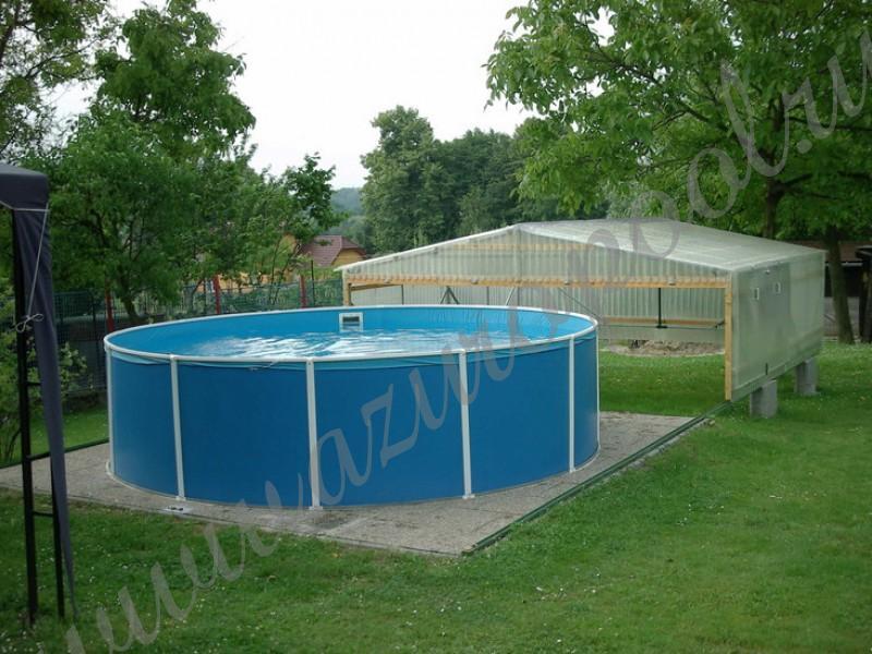 Площадка под бассейн каркасный