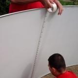 Монтаж крепления стенки бассейна AZURO