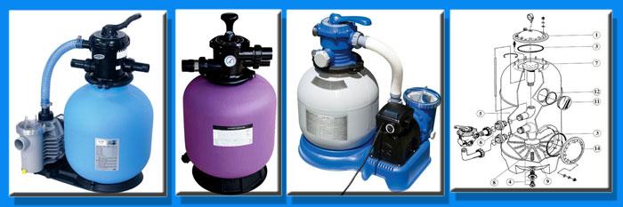 Фильтры (фильтрация воды), кварцевый песок, насосы, фильтровальные бочки, вентиля
